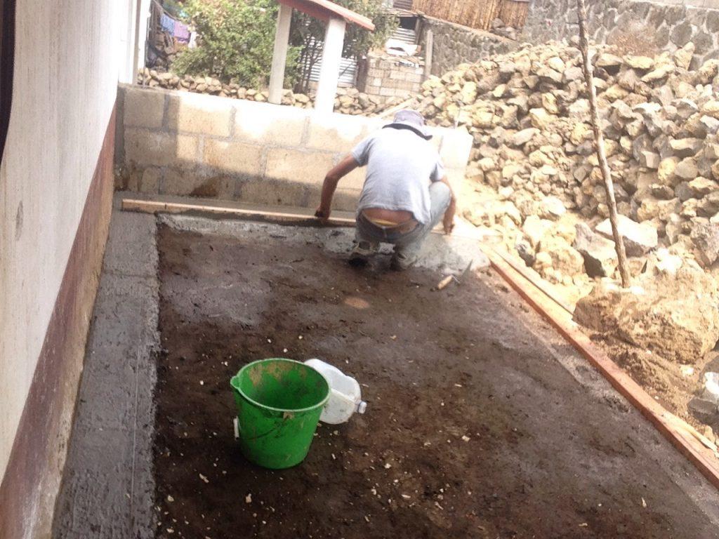 building outdoor cooking area